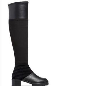 M4D3 Nakina Over The Knee Block Heel Black Boot